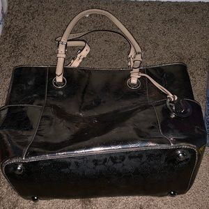Handbags - Michael Kors Jet Set Metallic Charcoal Bag